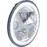 Single 7 Round Vx Led Headlight W Low-High-Halo 4