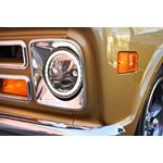 Kit Of Two Polished Chrome Face 575 Round Vx Led Headlight W Low-High-Halo 2