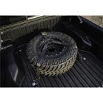 Gloss Black Bed Mounted Rapid Strap Tire Carrier w Black Strap BM1TSBK 2