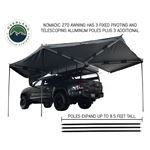 Nomadic Awning 270  Dark Gray Cover With Black Transit Cover Driver Side and Brackets 4