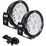 Pair Of 87 Cannon Adventure Halo 14 Led Light Mixed Beam Including Harness 2