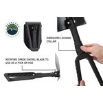 Multi Functional Military Style Utility Shovel with Nylon Carrying Case 4