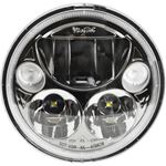 Single Black Chrome Face 575 Round Vx Led Headlight W Low-High-Halo 2