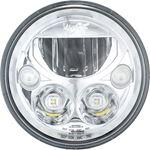 Single 7 Round Vx Led Headlight W Low-High-Halo 2