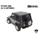 Replacement Soft Top Without Upper Doors  Black Diamond  TJ 2