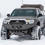 0515 Toyota Tacoma APEX Steel Front Bumper with LED Hoop Black Powdercoat 2