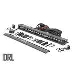 20 Inch CREE LED Light Bar Single Row Black Series wCool White DRL 2