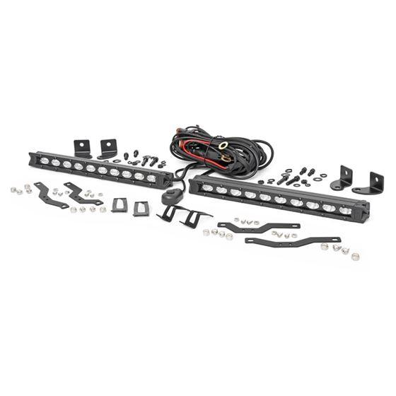 Dual 10 Inch LED Black Series Grille Kit 1820 F150 XLT 2
