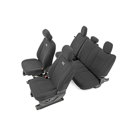 F150 Neoprene Front and Rear Seat Cover Black 1520 F150 XL XLT 2