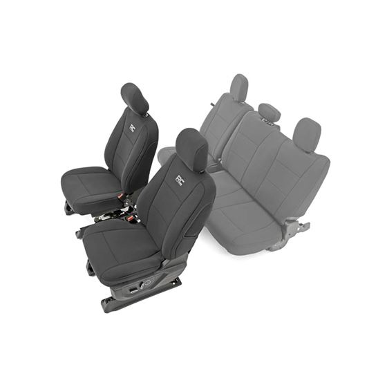 F150 Neoprene Front Seat Cover Black 1520 F150 XL XLT 2