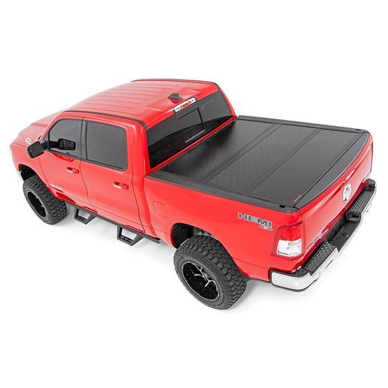 Dodge Low Profile Hard TriFold Tonneau Cover 1920 RAM 1500 QuadMega Cab 55ft Bed WO RAMbox 4