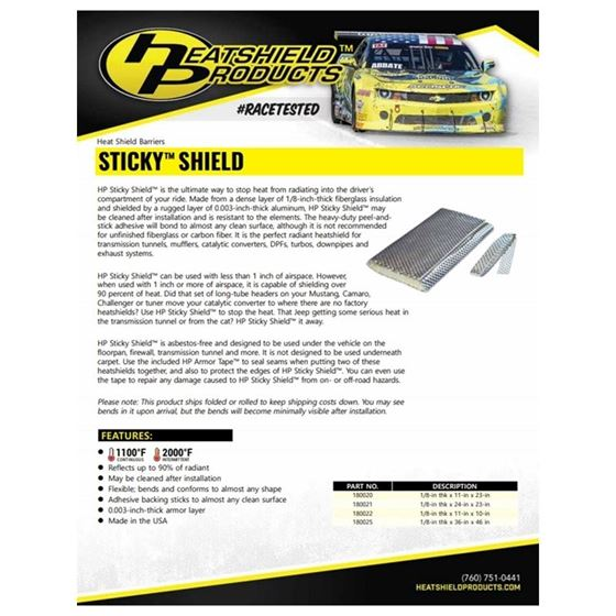 HP Sticky Shield 1 8 Thick 36 X 47 2