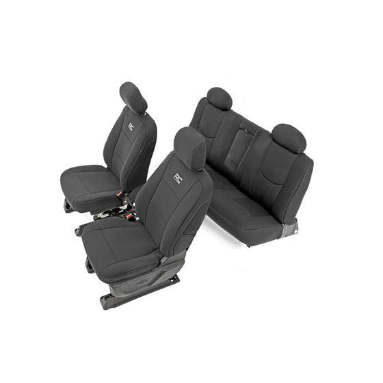 Neoprene Front and Rear Seat Covers Black 1418 SilveradoSierra 1500 2