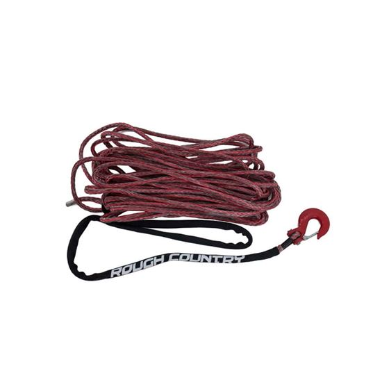 000 Lbs 3/8 Inch Includes Clevis Hook and Protective Sleeve Red/Grey Combo Rough Country 1