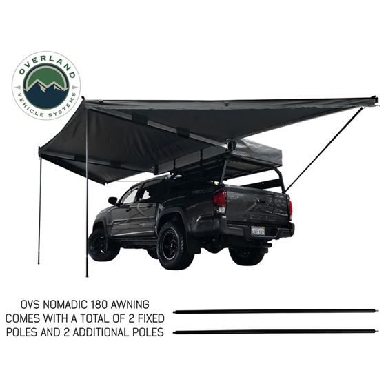 Nomadic Awning 180  Dark Gray Cover With Black Transit Cover and Brackets 4