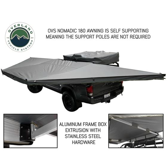 Nomadic Awning 180  Dark Gray Cover With Black Transit Cover and Brackets 2