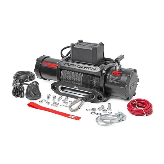 9500 LB Electric Winch Synthetic Rope Pro Series 2