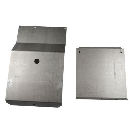 9504 Toyota Tacoma Steel IFS and Transmission Skid Plate Set Black Powdercoat 2