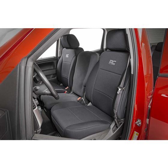 Neoprene Front and Rear Seat Covers Black 1418 SilveradoSierra 1500 4