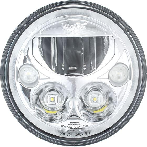 Single 7 Round Amber Halo Vx Series Led Headlight W Low-High-Halo 2