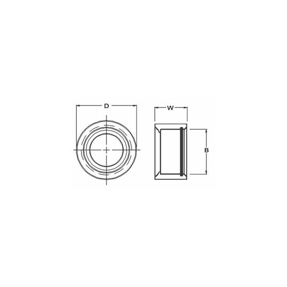 CPW16 Spherical Bearings Cup With Clip 2125 Bore 2