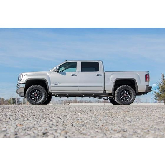 35 Inch Suspension Lift Knuckle Kit wStruts and V2 Monotube 1418 SilveradoSierra 1500 4WD Aluminum a