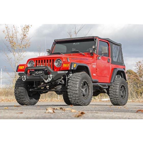 Jeep Full Width Front LED Winch Bumper 8706 Wrangler YJTJ 4