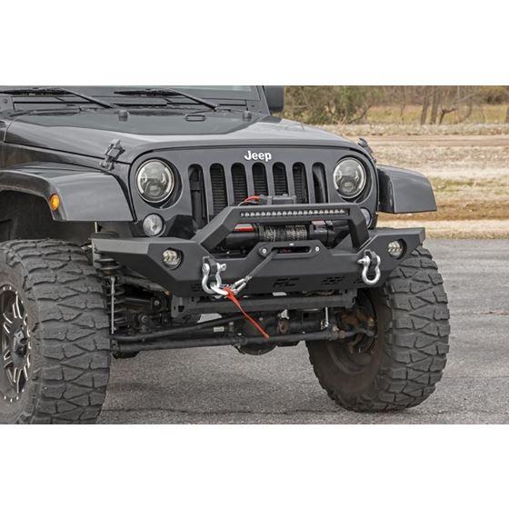 Jeep Full Width Front LED Winch Bumper JK JL Gladiator JT 2