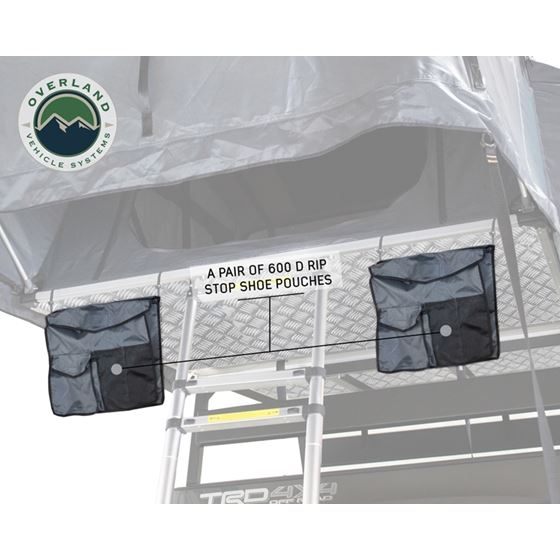 Nomadic 2 Extended Roof Top Tent  Dark Gray Base With Green Rain Fly and Black Cover 4