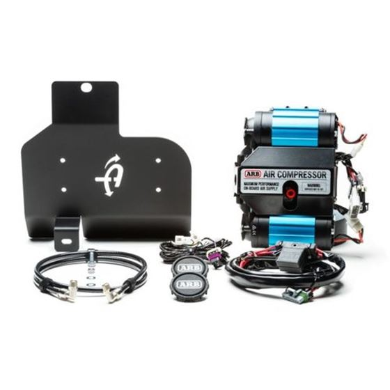 Compressor Mount and Connection Kit - JL Skid Plate for ARB Dual Air Compressor - Black 2