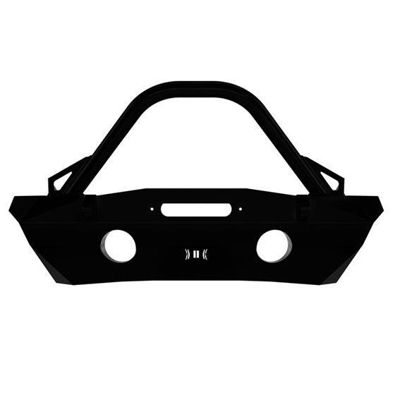 0718 JK Pro Series Front Bumper Rec Winch Mnt W Bar and Tabs 2