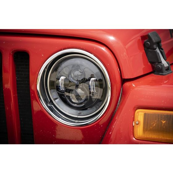Jeep 7 Inch LED Projection Headlights Wrangler TJ JK 4