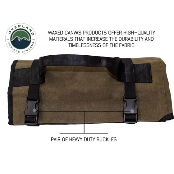 Rolled Bag General Tools With Handle And Straps  16 Waxed Canvas 2