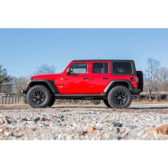 25 Inch Jeep Suspension Lift Kit V2 Shocks and Springs 1820 Wrangler JL 4