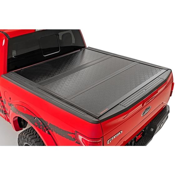 Ford Low Profile Hard TriFold Tonneau Cover 1520 F150 55 Foot Bed 2