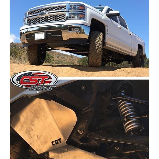 14 18 GM 1500 2WD Front Lower Aluminum Skidplate 4