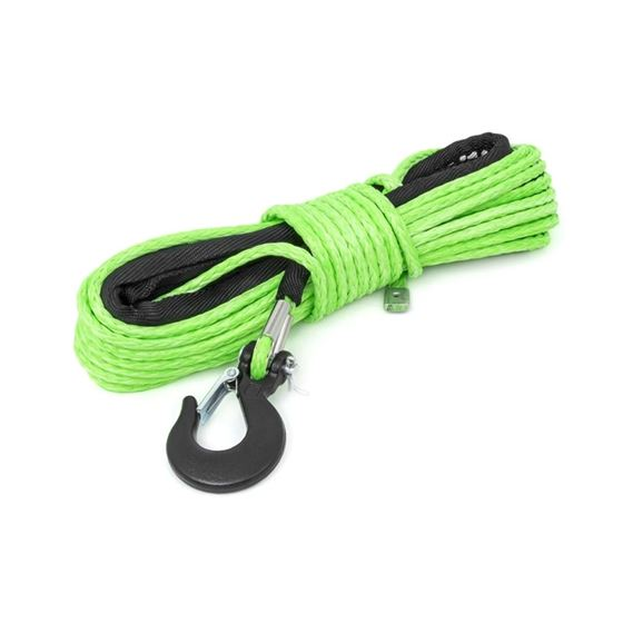 14 Inch Synthetic Rope 85 Feet Rated Up to 16000 Lbs 38 Inch Includes Clevis Hook and Protective Sle