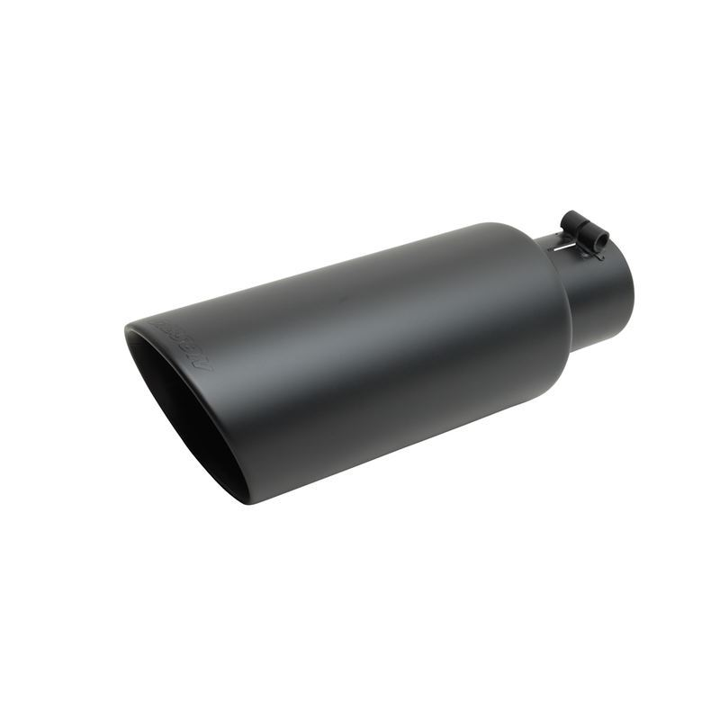 Black Ceramic Double Walled Angle Exhaust Tip