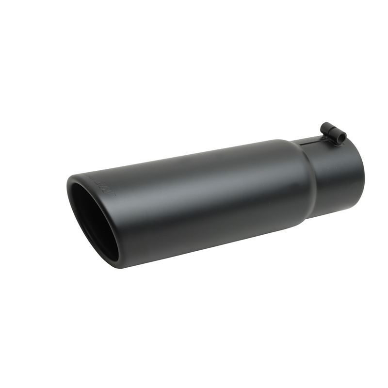 Black Ceramic Rolled Edge Angle Exhaust Tip