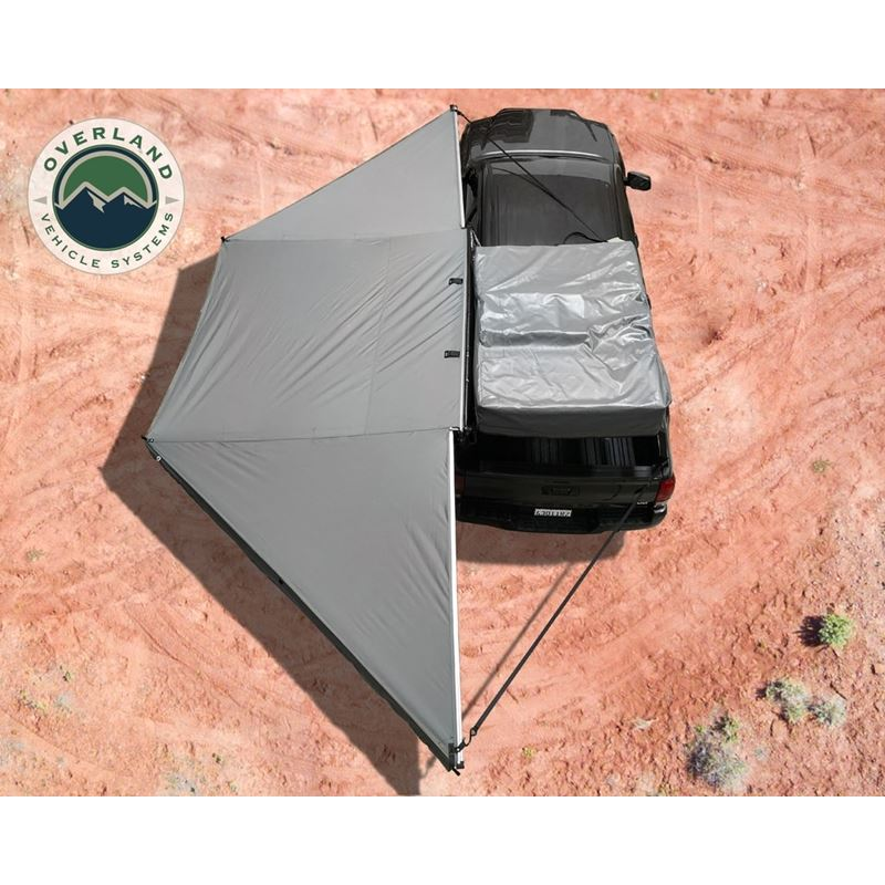 Nomadic Awning 180 - Dark Gray Cover With Black Tr