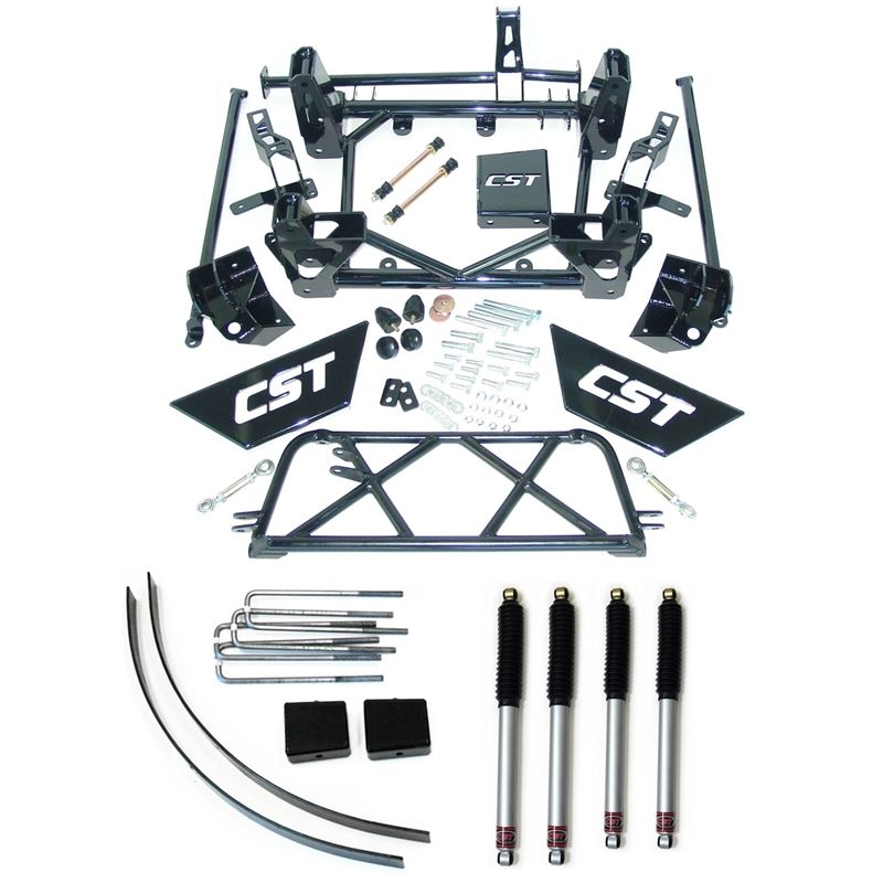 01-10 2500HD 2WD/4WD/9in. Lift Kit w/Four CST Stre