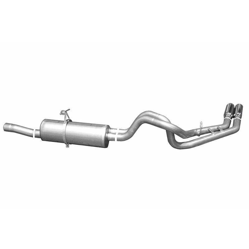 Cat Back Dual Sport Exhaust System, Aluminized 910
