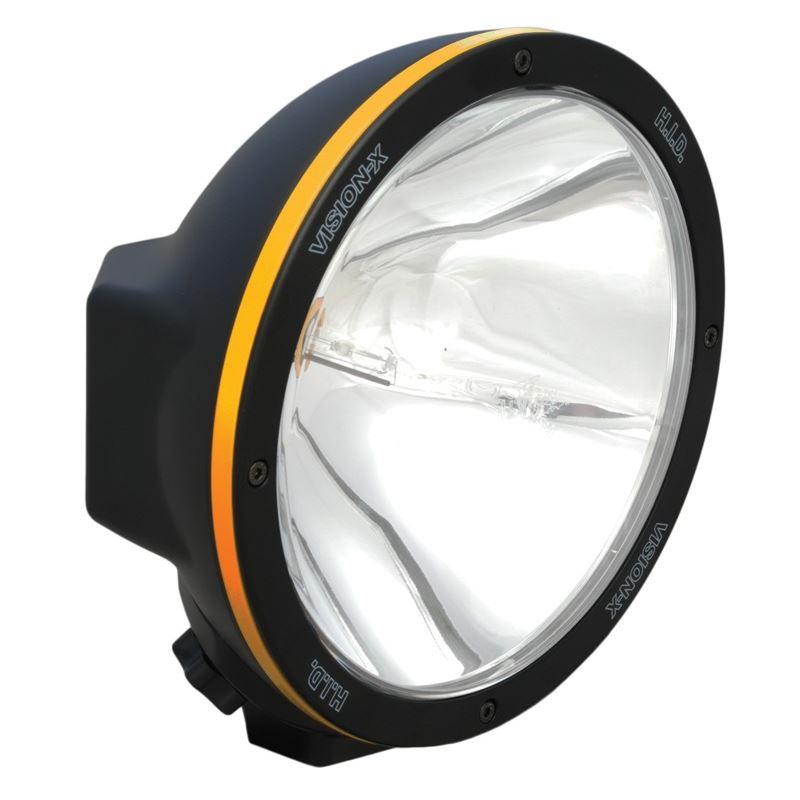 "8.7"" ROUND BLACK 50 WATT HID XTREME SPOT LAMP"