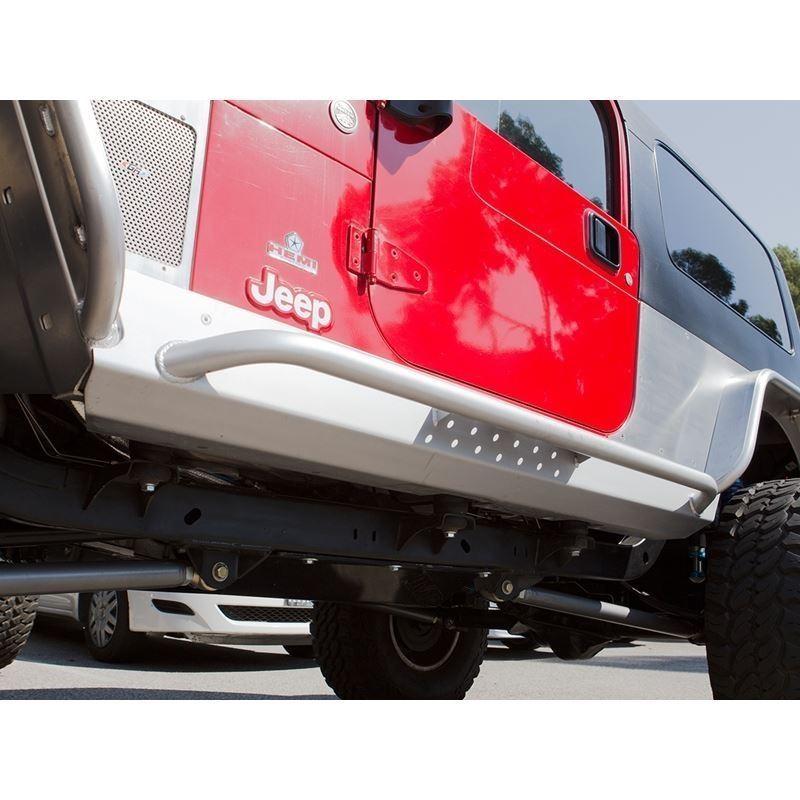 Jeep Rocker Guards Stretch Mini Boat Side Pair 04-