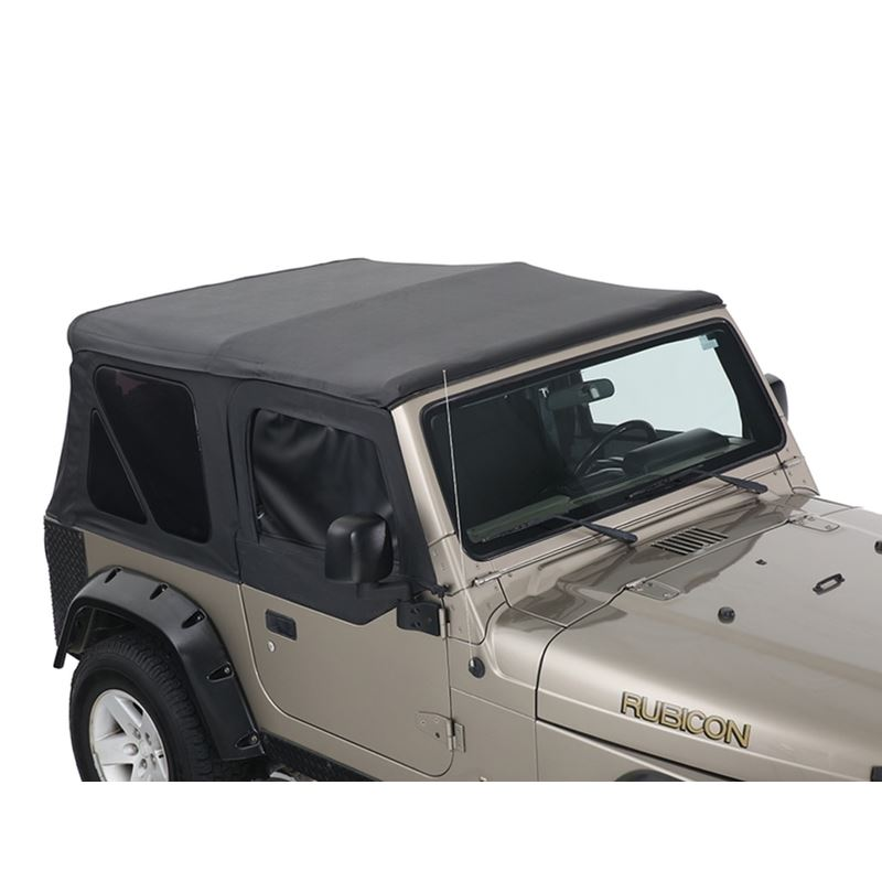Replacement Soft Top With Tinted Upper Doors - Bla