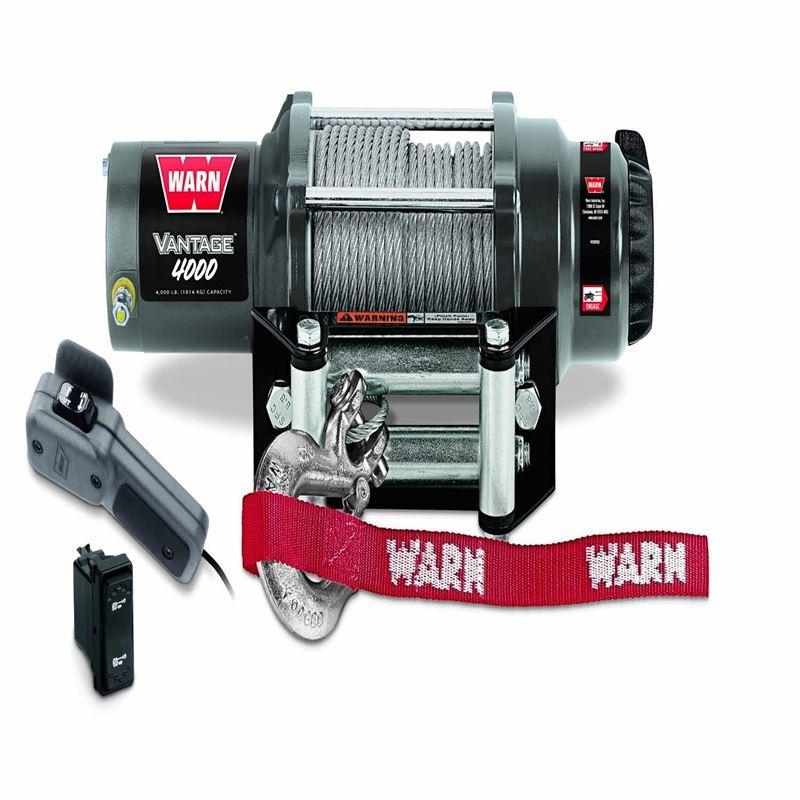 4000 Lb Cap 50 Ft Wire Rope Winch