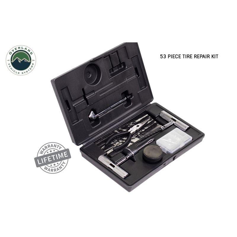 Tire Repair Kit - 53 Piece Kit With Black Storage