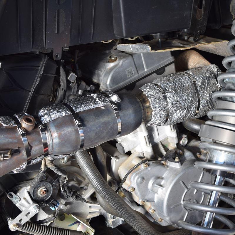 "Exhaust Pipe Heat Shield Armor UTV Kit 12"" X"