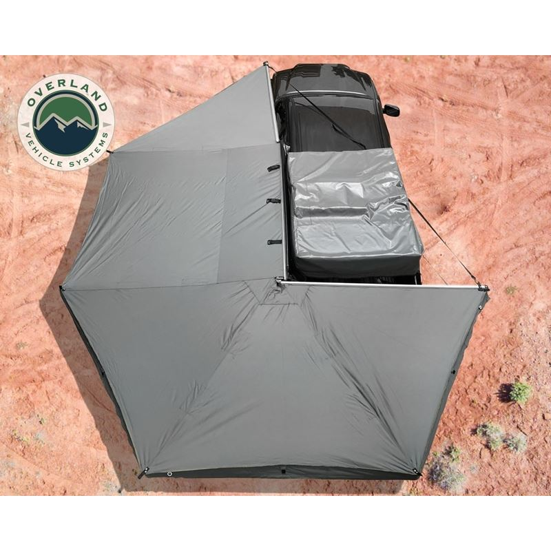 Nomadic Awning 270 - Dark Gray Cover With Black Tr
