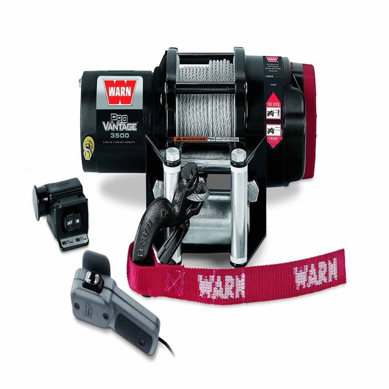 12 Volt Dc 3500 Lb 50 Ft Wire Rope Winch